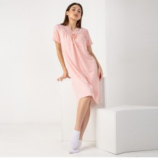 Сорочка женская персиковая 7493