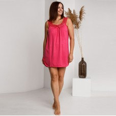 Сорочка женская ярко-розовая 7495