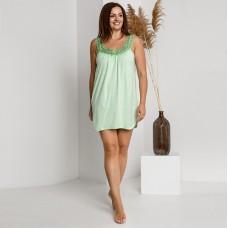 Сорочка женская зеленая с кружевом 7496