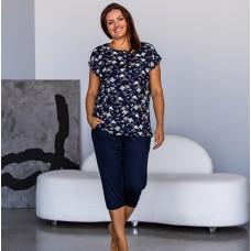 Пижама женская капри и футболка 7503