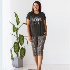 Пижама женская капри леопардовые 7505