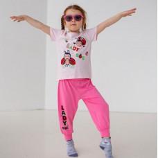 Пижама для девочки с штанами Божья коровка 7558