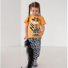 Пижама для девочки с штанами Жираф 7559