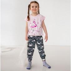 Пижама для девочки с штанами Фламинго 7560