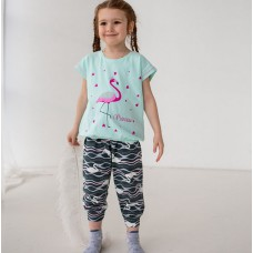 Пижама для девочки с штанами Фламинго 7561