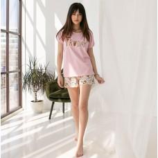 Пижама женская шорты Кофе 7566