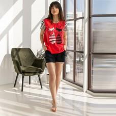 Пижама женская шорты Кошки 7568