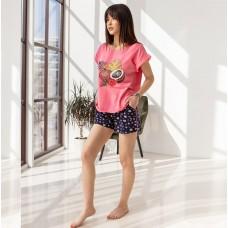 Пижама женская шорты Кокос 7572