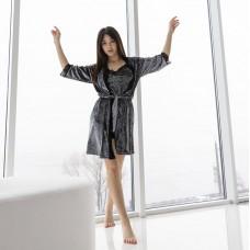 Пижама женская с халатом 7578