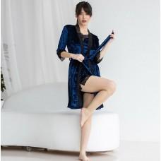 Пижама женская с халатом 7579