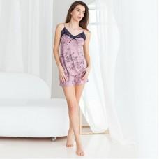 Женская пижама шортами и майка 7622