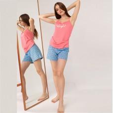 Женская пижама шортами и майка 7624