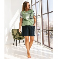 Пижама женская с шортами 8743