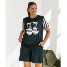 Пижама женская с шортами 8745