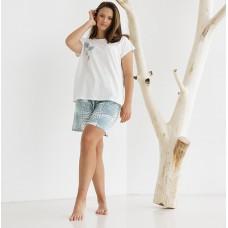 Пижама женская с шортами 8749