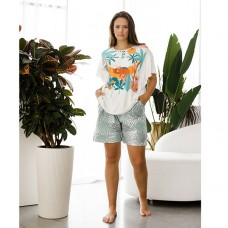 Пижама женская с шортами 8753