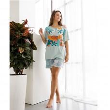 Пижама женская с шортами 8754