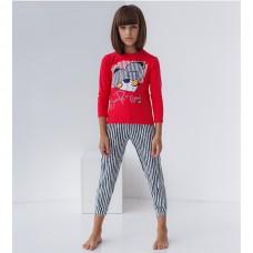 Пижама для девочки с штанами Мишка 8925