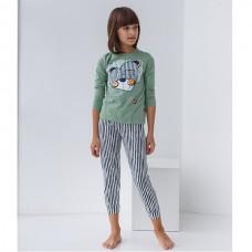 Пижама для девочки с штанами Мишка 8926