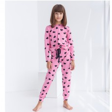 Пижама для девочки с штанами Сердце 8927