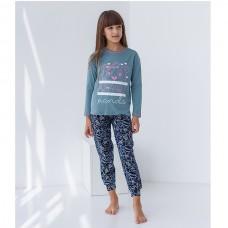 Пижама для девочки с штанами Панда 8929