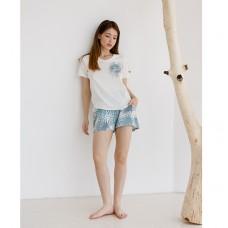 Пижама женская с шортами 8846