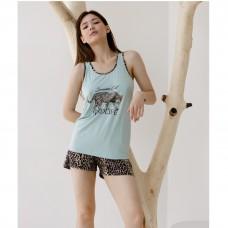 Пижама женская с шортами 8853