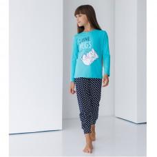 Пижама для девочки с штанами 8985