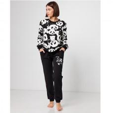 Пижама женская с штанами Панда 9049