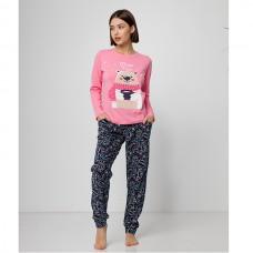 Пижама женская с штанами Мишка 9050