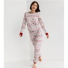 Пижама женская с штанами Новогодняя 9051