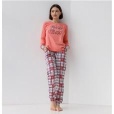 Пижама женская с штанами Кот 9052