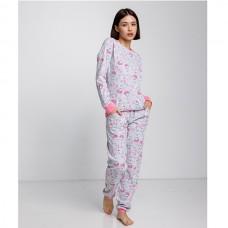 Пижама женская с штанами Лисички 9053