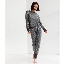 Пижама женская с штанами Новогодняя 9055