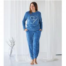 Комплект женский с штанами голубой 9060