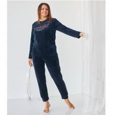 Комплект женский с штанами синий 9064