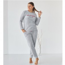 Комплект женский с штанами серый 9065