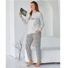 Пижама женская с штанами Леопард 9066