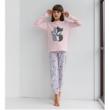 Пижама для девочки с штанами Лисички 9070