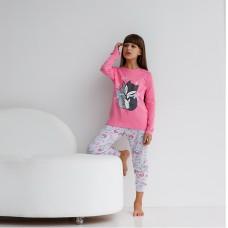 Пижама для девочки с штанами Лисички 9071
