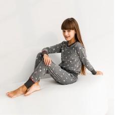 Пижама для девочки с штанами Новогодняя 9072