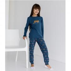 Пижама для девочки с штанами Леопард 9073