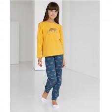 Пижама для девочки с штанами Леопард 9074