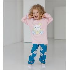 Пижама для девочки с штанами Мишка 9078
