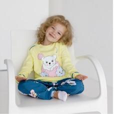 Пижама для девочки с штанами Мишка 9079