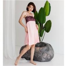 Сорочка женская персиковая 8939