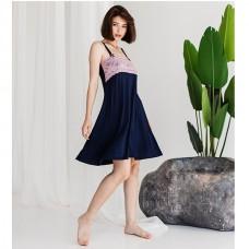 Сорочка женская синяя 8940