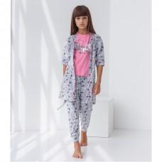 Пижама для девочки с халатом 8990