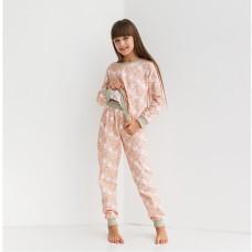 Пижама для девочки с штанами Мишка 9067