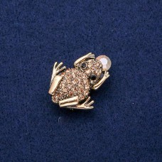 Брошь кулон Лягушка 8130